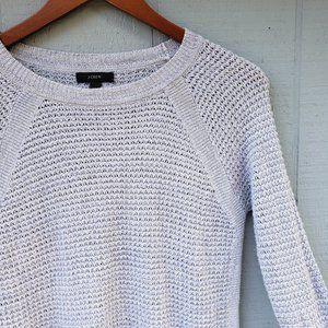 J Crew Waffle Knit Soft Purple LS Crew Sweater XS